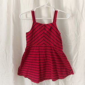 Nautica red and blue stripe dress
